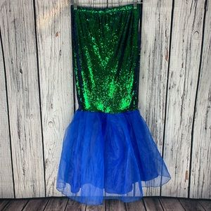 Sequined mermaid skirt Size XL